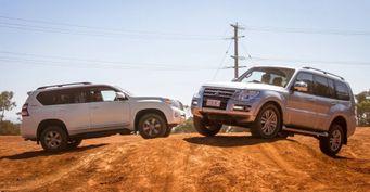Toyota LCPrado против Mitsubishi Pajero: Сравнение мелочей внедорожников