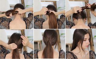 Фото автора «Покатим»— пошаговая инструкция для присобранных волос встиле Наташи Ростовой