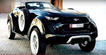 Для арабского шейха создали уникальный Ford Mustang