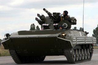 Украинская БМП вторглась на российскую границу в Ростовской области