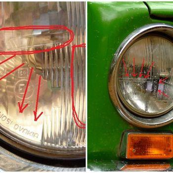 Фото: Фары на ВАЗ-2101 Made in Czechoslovakia, источник Drive2.ru
