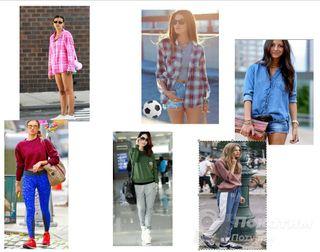 Ирине все наряды хороши. Справа показаны вариации стиля спорт-шик Источник: Instagram @irinashayk, @Pinterest