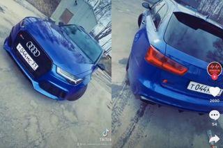 Audi RS6 занесколько дней доДТП