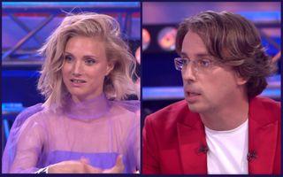 Фото: Ира Тонева иМаксим Галкин вшоу «Сегодня вечером», «Первый канал»