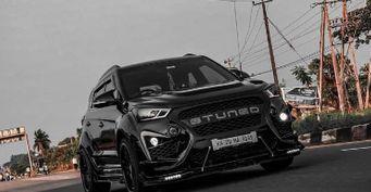 Превратили «карету» всуперкар: Hyundai Creta вобвесе Porsche показало тюнинг-ателье