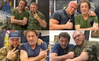 Григорий Лепс нафото соспортсменами-борцами. Коллаж: www.instagram.com
