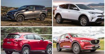Автомобилист сравнил два крупных гиганта 2019 года - Mazda CX-5 Turbo и Toyota RAV4 Hybrid