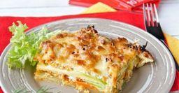 Лазанья из кабачков. Летний вариант с творожной начинкой и томатным соусом