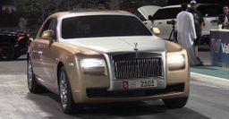 Rolls-Royce Ghost в Катаре показал всю мощность на дрэговой дистанции