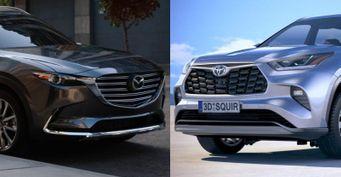 «Матрешка-Style» vs«имперский штурмовик»: Выбираем между обновленными Mazda CX-9 иToyota Highlander