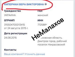 Скриншот: Брежнева носит фамилию бывшего мужа, telegram-канал «НеМалахов»