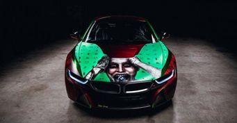 Гибридный BMW i8 стал «злодейским» спорткаром