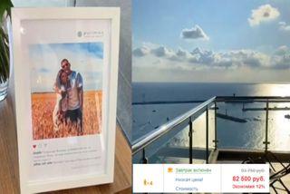 VIP-гостье отель подарил портрет врамке. Кадры: Instagram @borodylia