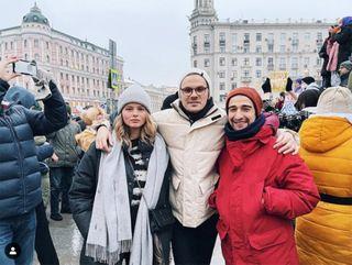 Александра Бортич наакции протеста 23января / Фото: Instagram/Bortich