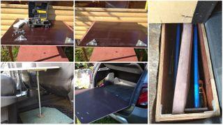 """Фото: Краткая фото-инструкция по сооружению стола-кровати в """"Дастер"""", источник Drive2.ru"""