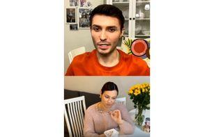 Фрагмент видеоразговора Иды иАланаФото: instagram.com/flo_rida