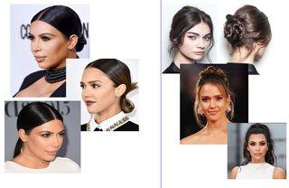 Слева прилизанные образы знаменитостей. Справа примеры более ранних выходов, которые скрывают грубость лиц Источник: Instagram @kimkardashian, @jessicaalba Коллаж: автор «Покатим»