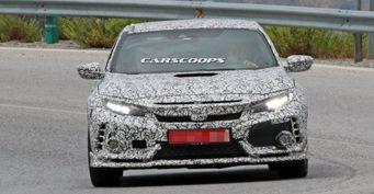 Honda Civic Type R 2018 замечена на тестах в Испании