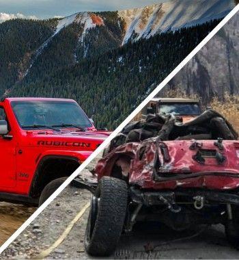 Фиаско за5млн рублей: НаJeep Wrangler 2020 неосталось «живого места» после аварии набездорожье