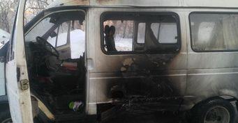«ГАЗель» с рабочими загорелась после ДТП с иномаркой в Новоуральске