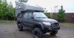 «Монстр» на колесах за 2 млн рублей: Представлен УАЗ «Патриот» с жилым модулем на крыше