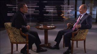 Владимир Соловьев берет интервью у Путина Фото: Youtube