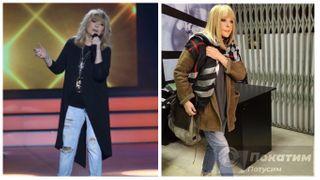 Фото: Примадонна в светлых джинсах. Слева - сочетание с кардиганом, справа - с удлиненной курткой. Автор «Покатим» Ольга Белоусова