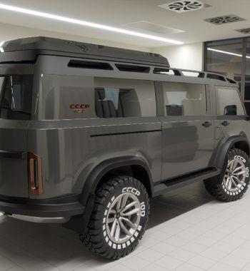 «Буханка» кстолетию СССР: Новый фургон УАЗ из2022 года представил дизайнер