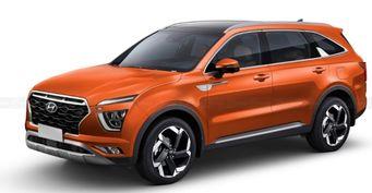 Семиместная «Крета»: Новый Hyundai Alcazar показан нарендерах