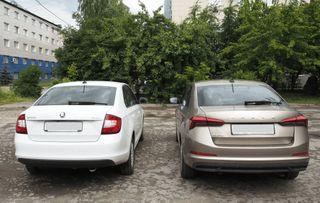 Слева— Rapid 2018, справа— Rapid 2020. Источник фото: Drive2