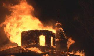 В Хабаровске в храме Александра Невского имел место пожар без пострадавших