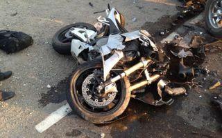 В Астрахани мотоциклист сбил пешехода и погиб