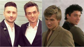 Топалов иЛазарев: слева— нынешнее время, справа— во время существования «Smash!». Коллаж автора «Покатим»