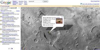 В Google Maps появились виртуальные карты Луны и Марса