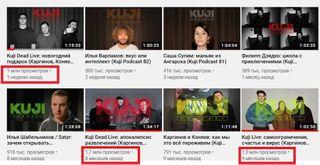 Видеоролики YouTube-канала KuJi Podcast