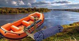 Как надёжно заякорить лодку на течении