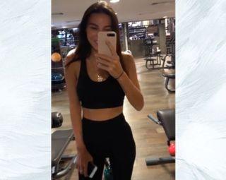 Блогер без фотошопа в спортзале. Instagram @samoylovaoxana