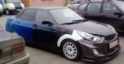 LADA Соляра:  Пользователи сети высмеяли ВАЗ-2110 с «лицом» Hyundai Solaris