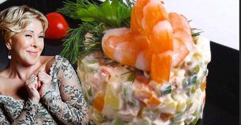 «Оливье» без картошки иколбасы— Люба Успенская поделилась рецептом