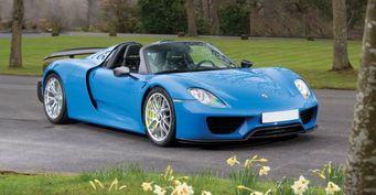 Единственный Porsche 918 синего цвета будет продан на аукционе