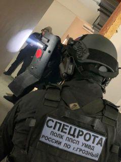бойцы полка ППС МВД Чечни