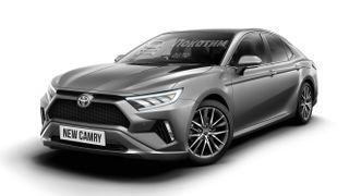 Новая Toyota Camry, рендер Pokatim.ru