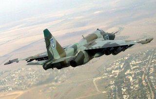 Ополченцы сбили над Луганском Су-25 ВВС Украины
