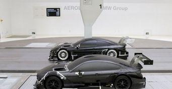 BMW M4 DTM испытали в аэродинамической трубе