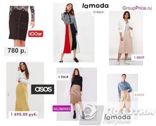 «Старящие» модели юбок слева, стройнящие варианты - справа. Коллаж автора «Покатим»