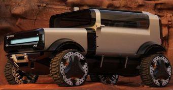 Цифровая мечта: Будущий Toyota FJCruiser показан нарендерах