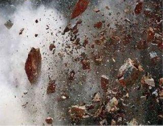 В Мелитополе взорвали вход в «Приват Банк»