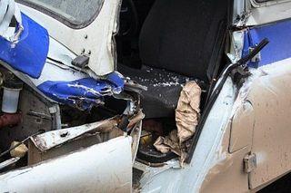 ДТП в Кировограде: Маршрутка столкнулась с милицейской машиной